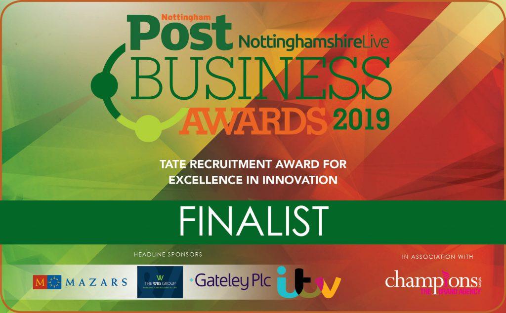 Nottingham Post Business Awards Finalist badge