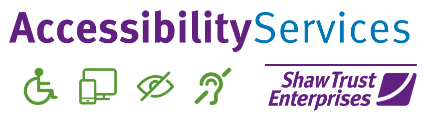 Shaw Trust Accessibility Services logo